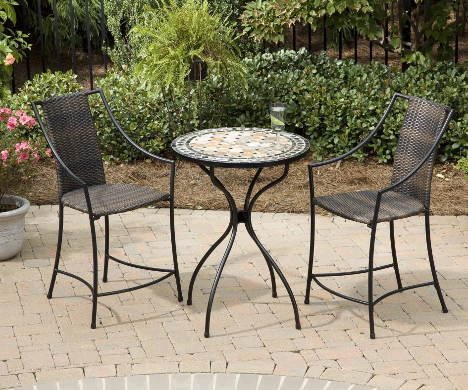 Stylish High Top Wicker Patio Set Furniture Ideas High Patio Set With Wicker Patio Furniture And