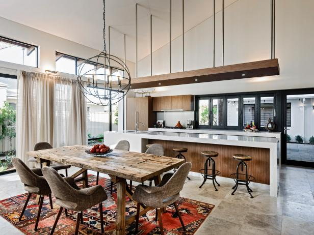 Stylish Kitchen Dining Furniture 15 Open Concept Kitchens And Living Spaces With Flow Hgtv