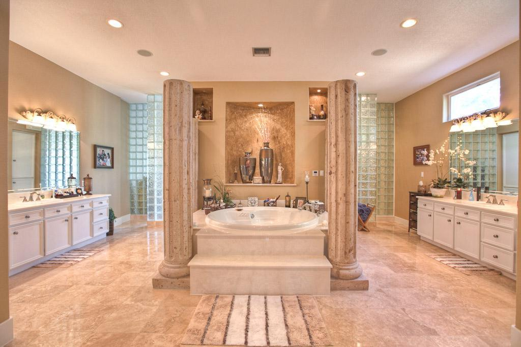 Stylish Large Luxury Bathrooms Large And Luxury Bathroom Idea With Glass Blocks And Bath Tub In