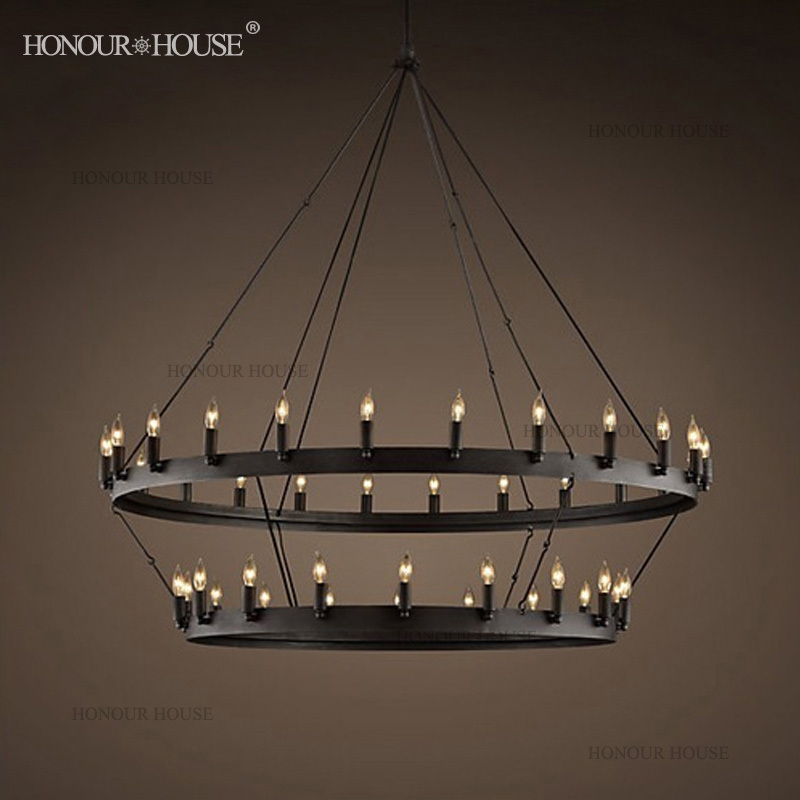 Stylish Large Round Chandelier Rustic Chandeliers Madera 6 Light Round Chandelier Iron Circle