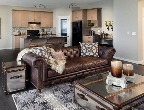 Stylish Leather Living Room Brown Leather Sofa Living Room Innards Interior