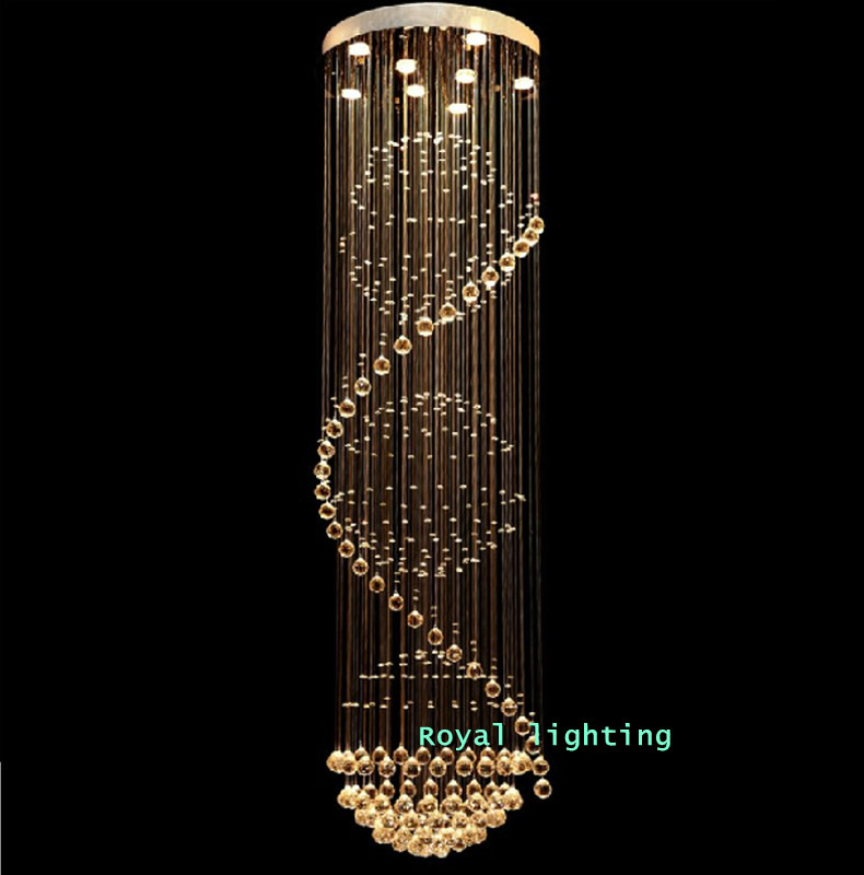 Stylish Long Hanging Chandelier Awesome Long Hanging Chandelier Aliexpress Buy Stairway Crystal