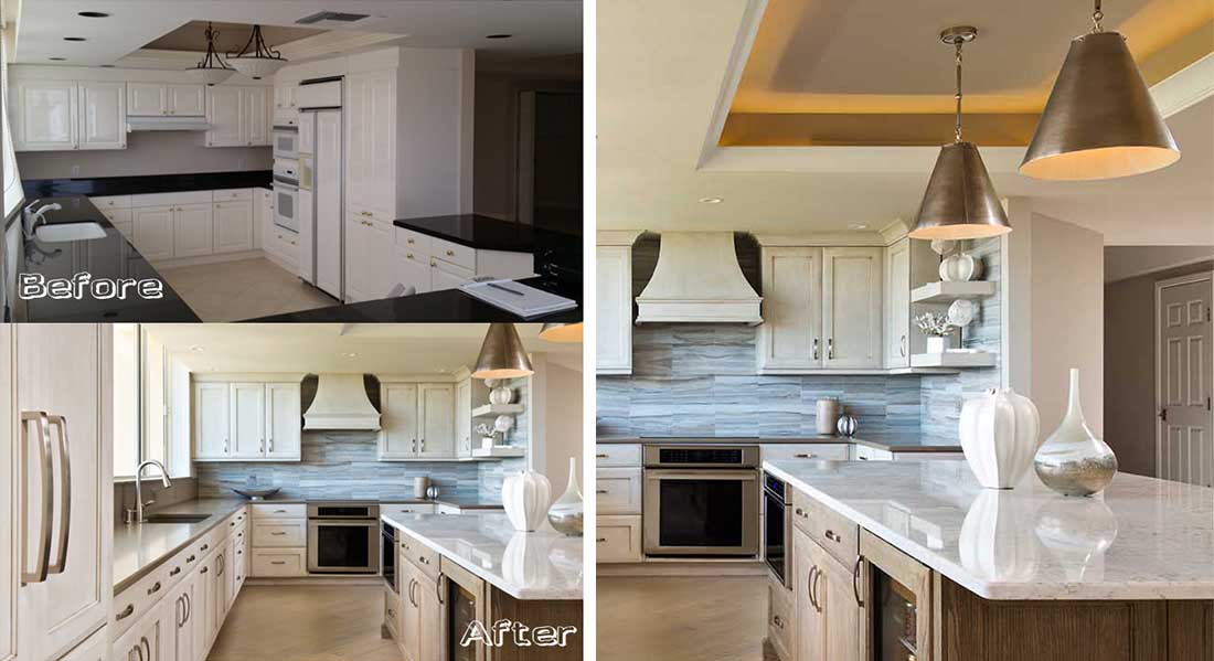 Stylish Luxury Kitchen And Bath St Raphael At Pelican Bay Before After Naples Kitchen Bath