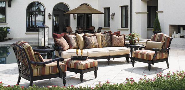 Stylish Luxury Lawn Furniture Remarkable High End Patio Dining Set Gorgeous Luxury Outdoor