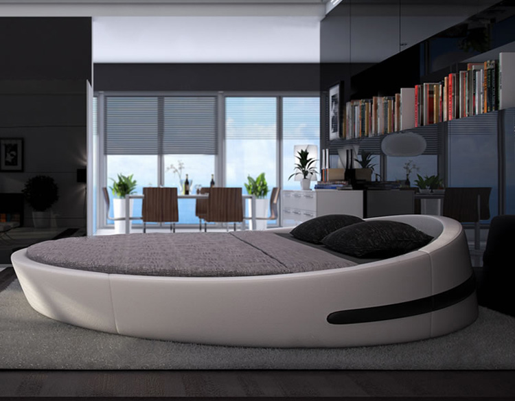 Stylish Luxury Low Beds Mybestfurn Italy Design Luxury Large Size Round Bedtop Grain