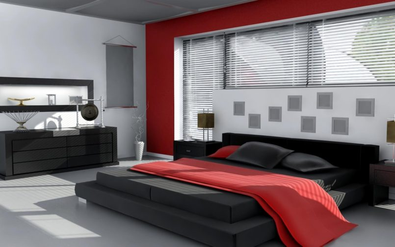 Stylish Modern Black Bedroom Bedroom Simple Red White And Black Bedroom Wallpaper Modern