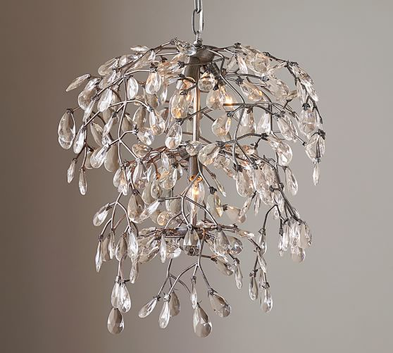 Stylish Round Crystal Chandelier Bella Crystal Round Chandelier Pottery Barn