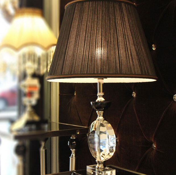 Stylish Upscale Table Lamps Bedroom Bedside Lamp Crystal Lamp Black Bedroom Upscale Luxury
