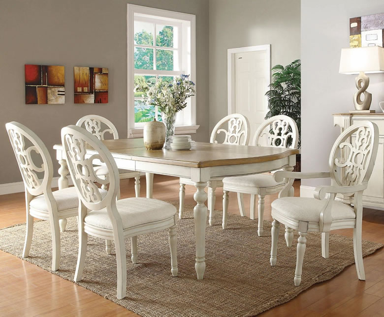 Stylish White Dining Room Furniture Sets White Dining Room Table Set Indiepretty Full Circle