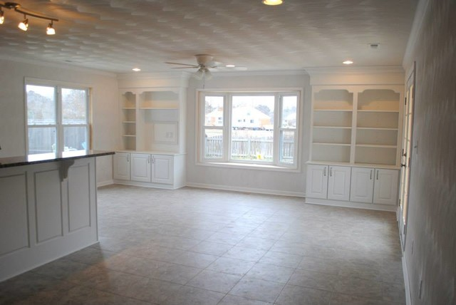 Stylish White Luxury Vinyl Tile Mid Continent Cabinetry White Cabinets Luxury Vinyl Tile Floor