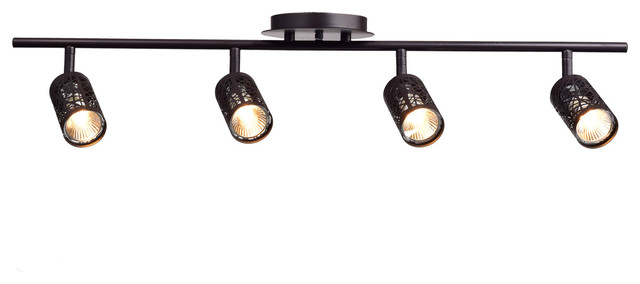 Unique 4 Light Ceiling Fixture Vintage Oil Rubbed Bronze Metal Track Lighting Ceiling Light