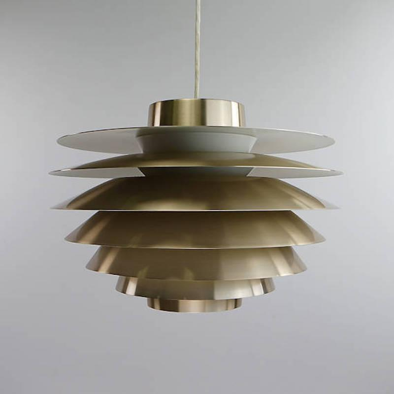 Unique Brass Ceiling Lights Danish Brass Ceiling Light Sven Middelboe For Nordisk Solar
