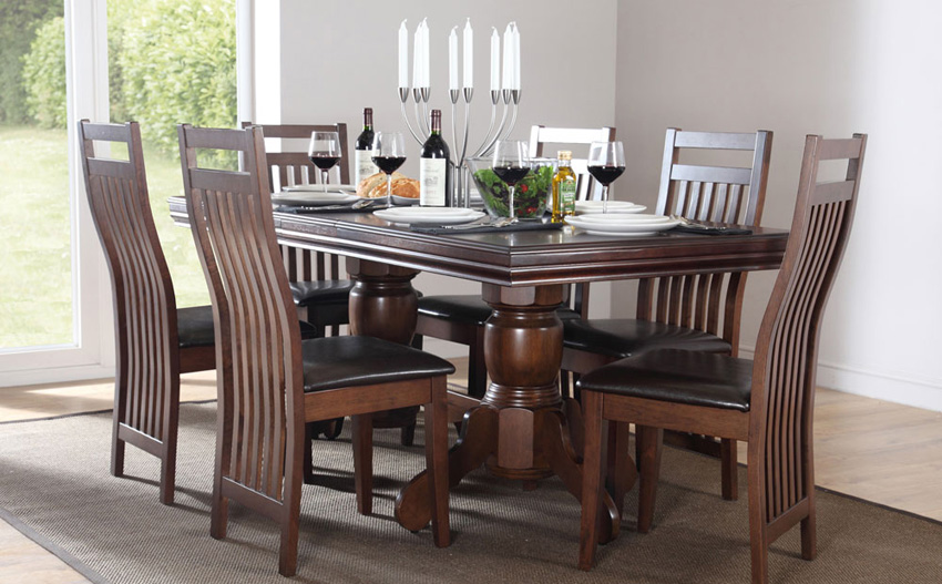 Unique Dark Wood Dining Room Table And Chairs Dining Room Mesmerizing Dark Wood Dining Room Chairs Dark Wood