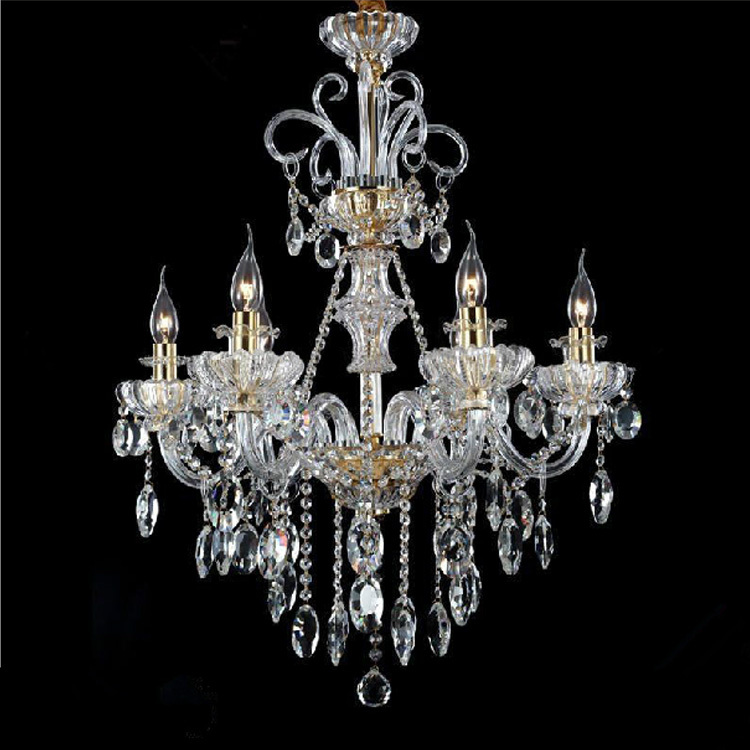 Unique Italian Style Chandeliers Italy Style Restaurant Crystal Chandelier 6 Lights Modern Candle