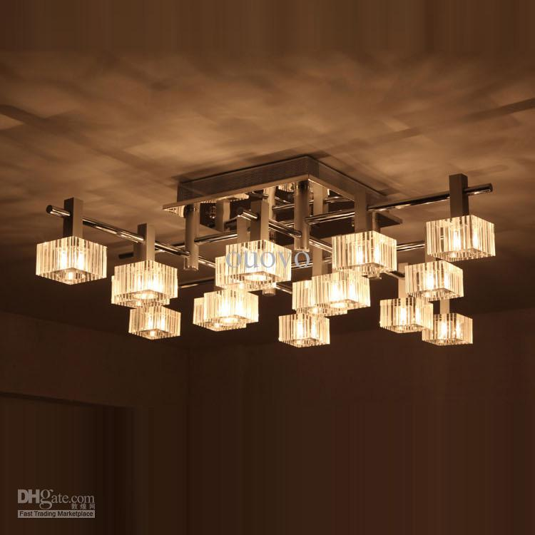 Unique Luxury Ceiling Lights Luxury 42 Wide 16 Striped Square Crystal Living Room Ceiling Light