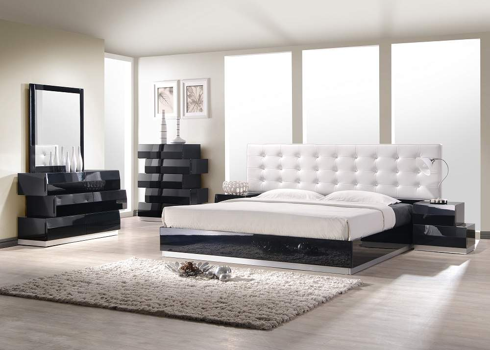 Unique Modern Style Beds Exquisite Leather Modern Master Beds With Storage Cases Buffalo
