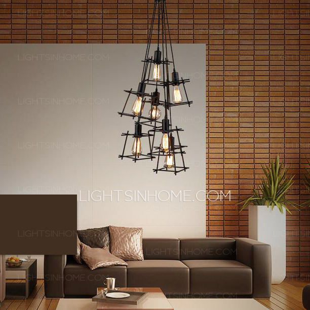 Unique Modern Style Chandeliers Incredible Modern Style Chandeliers 7 Light Square Shaped Shade
