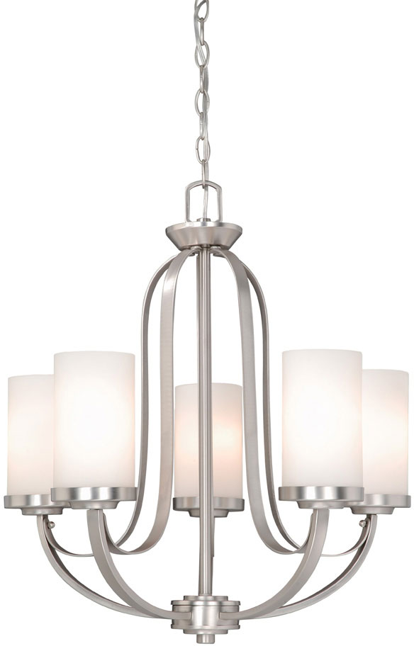 Unique Nickel Chandeliers Lighting Fixtures Vaxcel Ox Chu005bn Oxford Contemporary Brushed Nickel Finish 2525