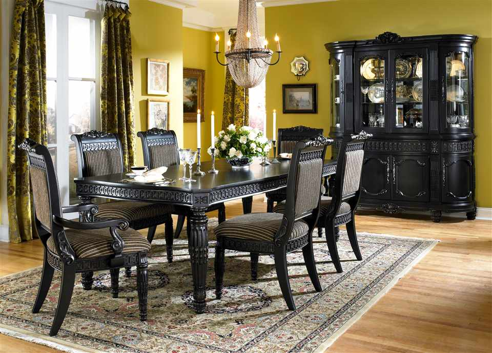 Wonderful Black Dining Room Set Black Formal Dining Room Table Formal Dining Room Tables Design