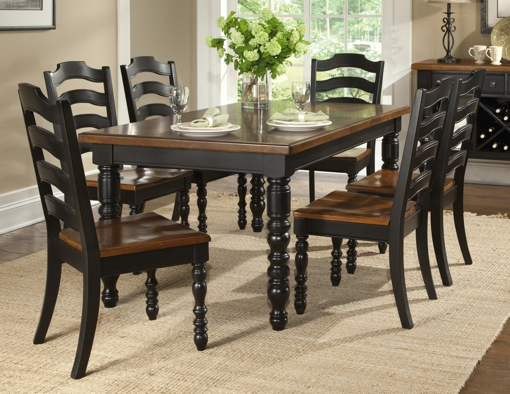 Wonderful Black Dining Room Table And Chairs Black Dining Room Set Marceladick