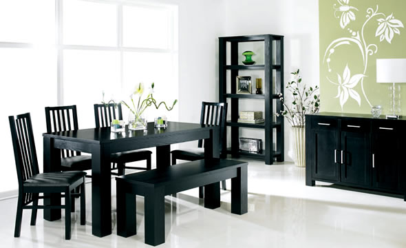 Wonderful Black Dining Room Table And Chairs Black Dining Room Sets For Modern Dining Room Eva Furniture