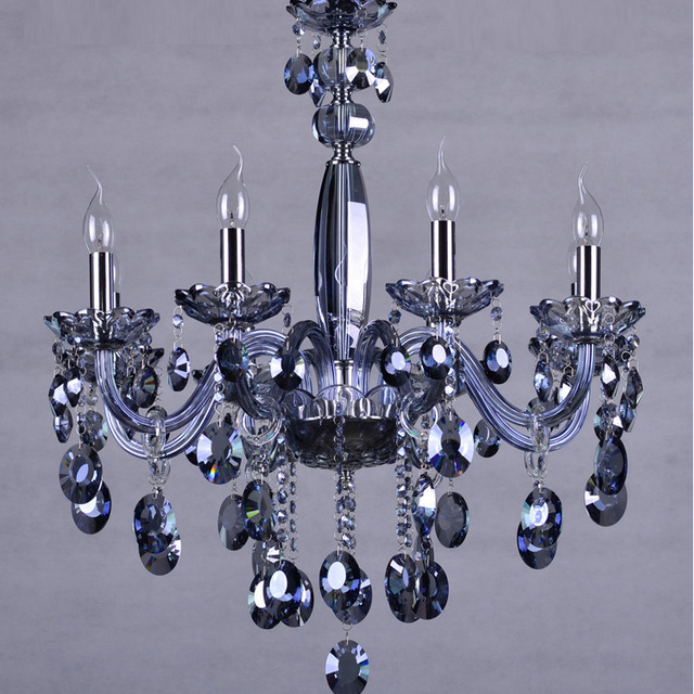 Wonderful Blue Crystal Chandelier Light 8 Arm Sky Blue Crystal Chandelier Lights Deluxe Crystal Lamp