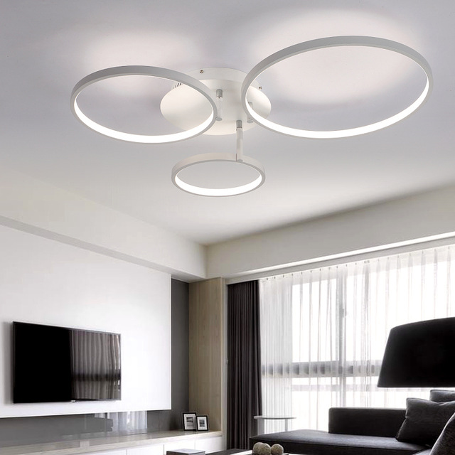 Wonderful Contemporary Led Ceiling Lights New Arrival Circle Rings Designer Modern Led Ceiling Lights Lamp