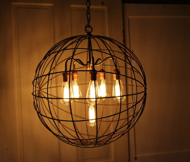 Wonderful Industrial Chandelier Lighting Orb Chandelier Industrial Sphere Id Lights