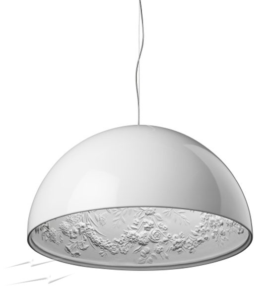 Wonderful Large Ceiling Pendant Fz472 Flos Skygarden 1 Pendant In White Award Winning Large
