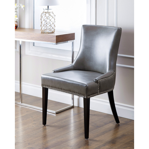 Wonderful Luxury Leather Dining Chairs Minimalist Leather Dining Room Chairs With Nailheads