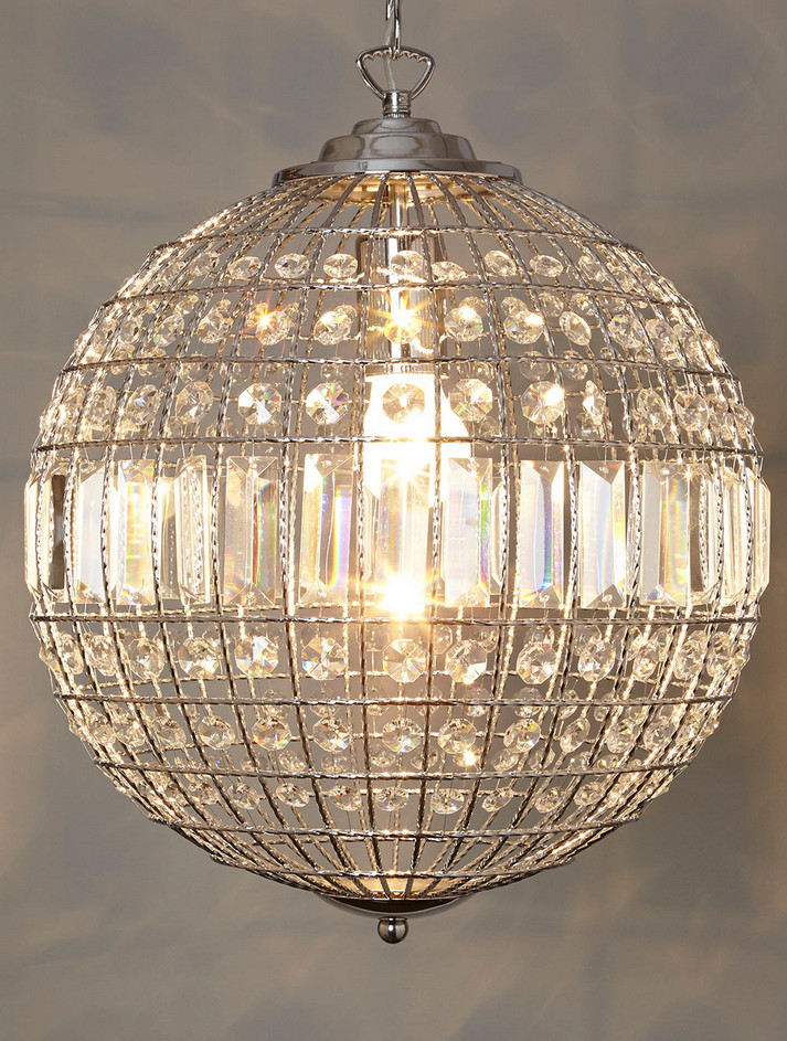 Wonderful Modern Ball Chandelier Glass Ball Chandelier Modern Interior Design Ideas