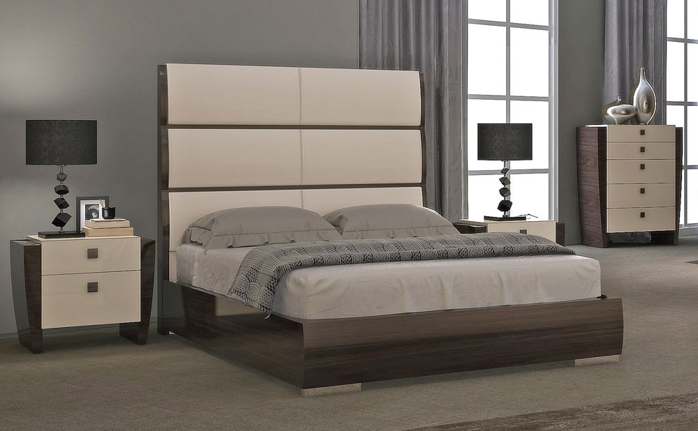 Wonderful Modern Bedroom Collections High Headboard Modern Bed Collection