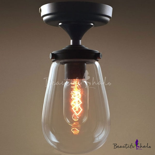 Wonderful Small Ceiling Lamps Modern Clear Glass Ceiling Lamp Fixture Small Simple Light
