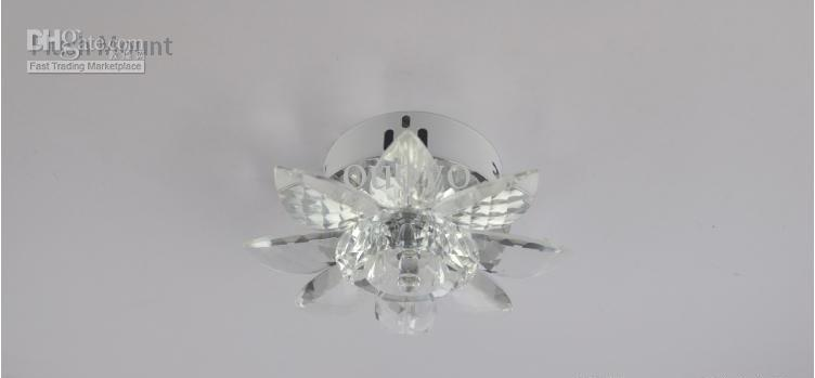 Wonderful Small Ceiling Lamps Modern Small Size 18cm Clear Crystal Sunflower Corridor Ceiling